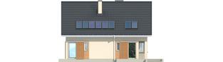 Projekt domu Simona - elewacja tylna