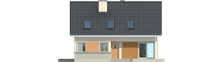 Projekt domu Simona - elewacja frontowa