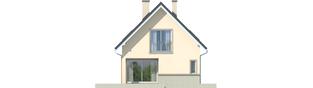 Projekt domu Simona - elewacja lewa