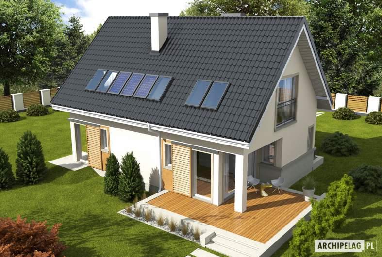 Projekt domu Simona - widok z góry