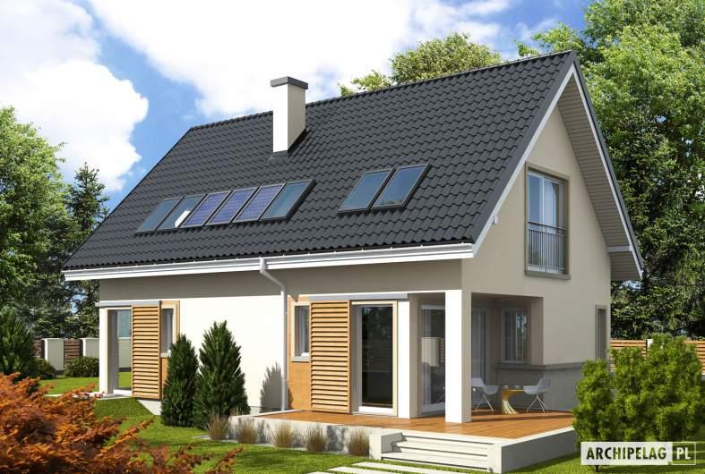 Projekt domu Simona - wizualizacja ogrodowa