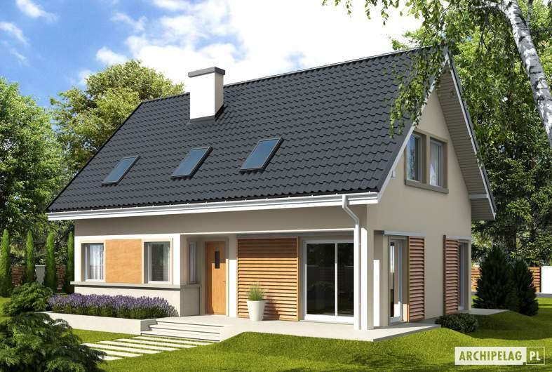 Projekt domu Simona - wizualizacja frontowa