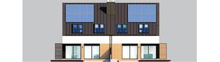 Projekt domu Lukas II G1 wersja A (bliźniak) - elewacja tylna