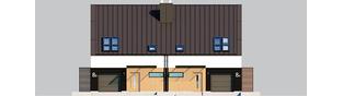 Projekt domu Lukas II G1 wersja A (bliźniak) - elewacja frontowa