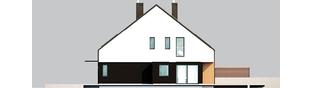 Projekt domu Lukas II G1 wersja A (bliźniak) - elewacja prawa
