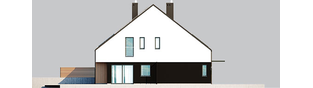 Projekt domu Lukas II G1 wersja A (bliźniak) - elewacja lewa