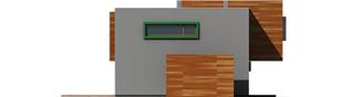 Projekt domu Pencil - elewacja lewa