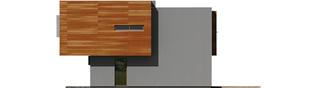 Projekt domu Pencil - elewacja prawa