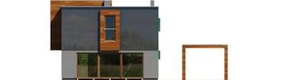 Projekt domu Pencil - elewacja tylna