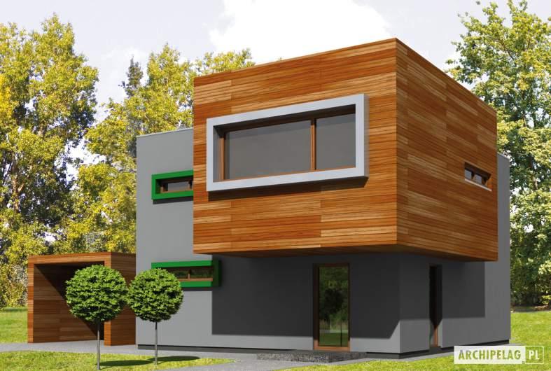 Projekt domu Pencil - wizualizacja frontowa