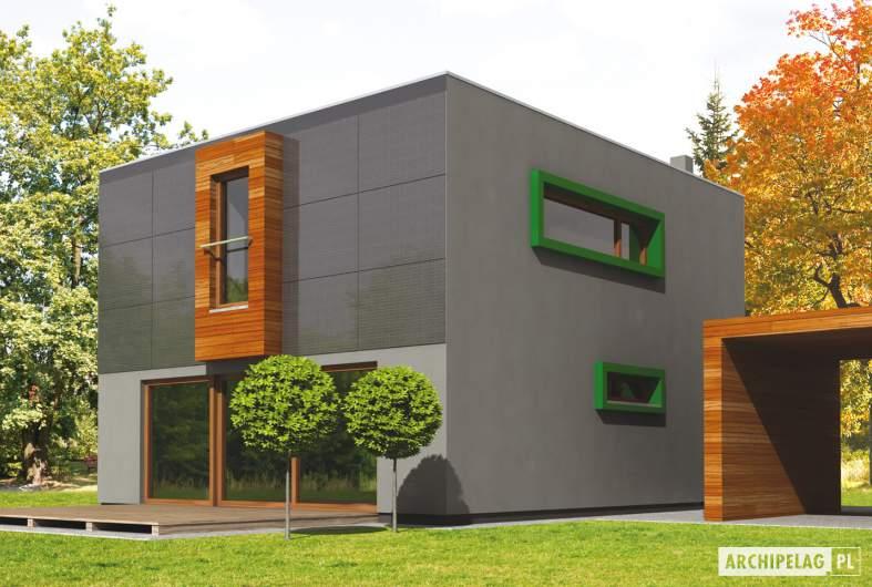 Projekt domu Pencil - wizualizacja ogrodowa