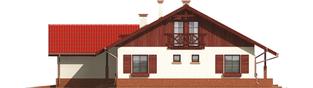 Projekt domu Rózia G2 - elewacja prawa