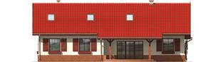 Projekt domu Rózia G2 - elewacja tylna