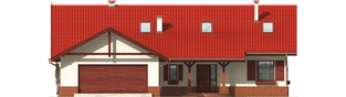 Projekt domu Rózia G2 - elewacja frontowa