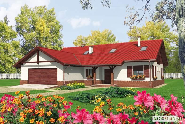 Projekt domu Rózia G2 - wizualizacja frontowa