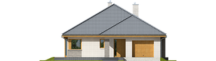 Projekt domu Glen V G1 - elewacja frontowa