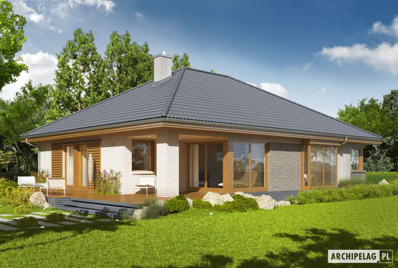 Projekt domu Glen V G1 - Projekty domów ARCHIPELAG - Glen V G1 - wizualizacja ogrodowa