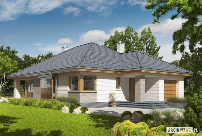 Projekt domu Glen V G1 - Projekty domów ARCHIPELAG - Glen V G1 - wizualizacja frontowa