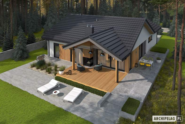 Projekt domu Simon IV G2 - widok z góry