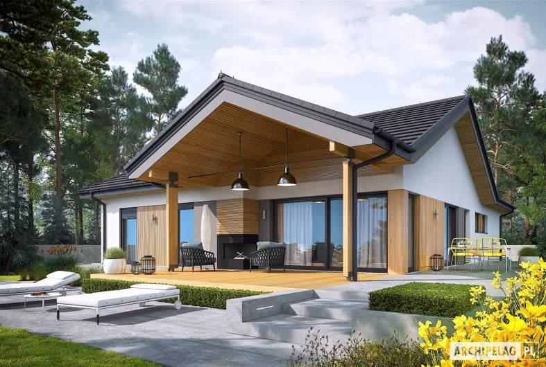 Projekt domu Simon IV G2 - wizualizacja ogrodowa