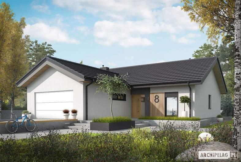 Projekt domu Simon IV G2 - wizualizacja frontowa