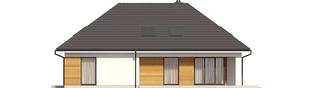 Projekt domu Olaf G2 ENERGO PLUS - elewacja tylna