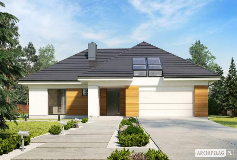 Projekt domu Olaf G2 ENERGO PLUS - wizualizacja frontowa