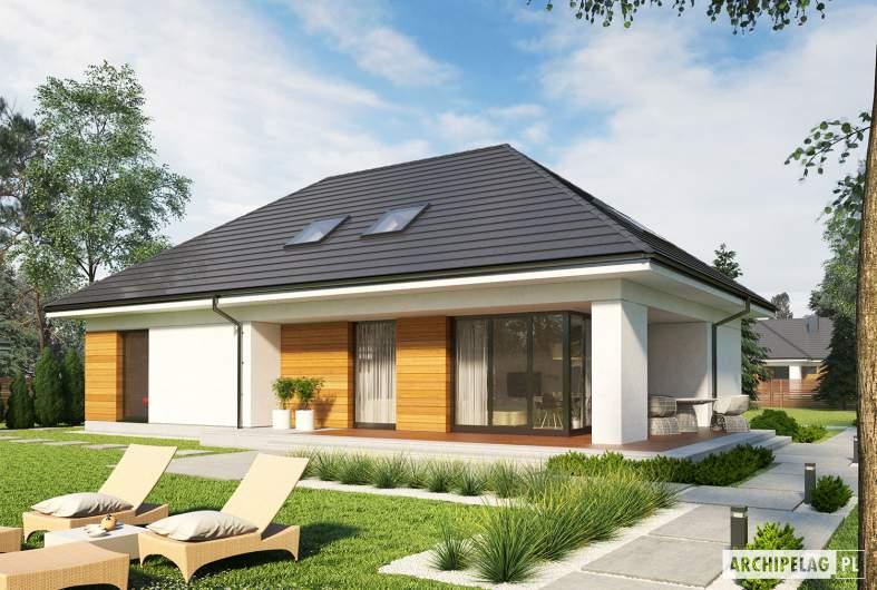 Projekt domu Olaf G2 ENERGO PLUS - wizualizacja ogrodowa