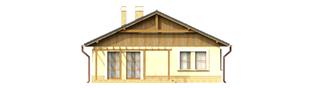 Projekt domu Bogna - elewacja tylna