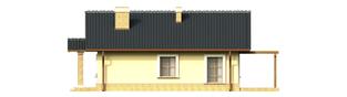 Projekt domu Bogna - elewacja prawa
