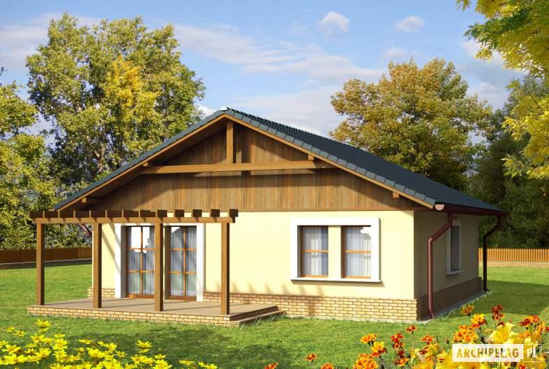 Projekt domu Bogna - wizualizacja ogrodowa
