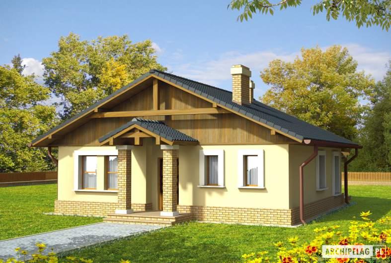Projekt domu Bogna - wizualizacja frontowa