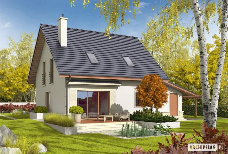 Projekt domu Sebastian II G1 - wizualizacja ogrodowa