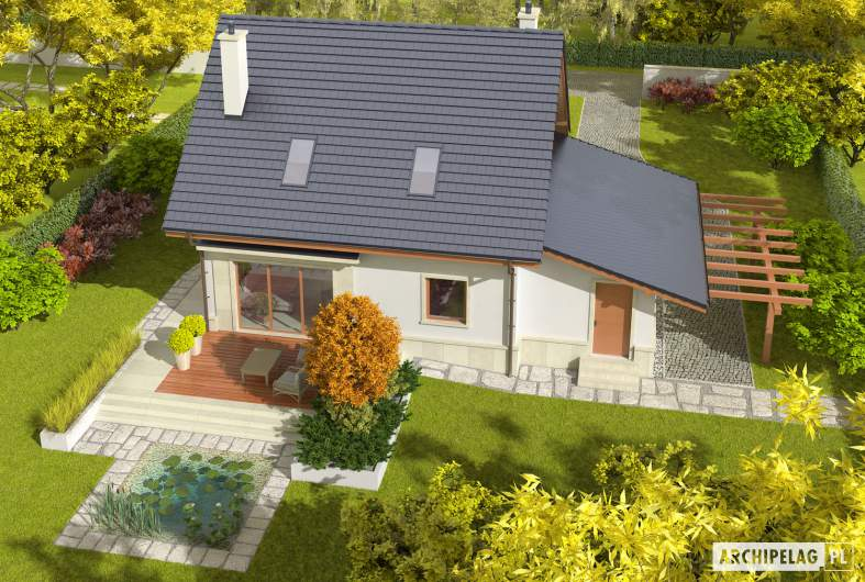 Projekt domu Sebastian II G1 - widok z góry