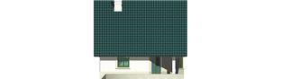 Projekt domu Hania - elewacja tylna