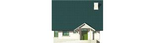 Projekt domu Hania - elewacja frontowa