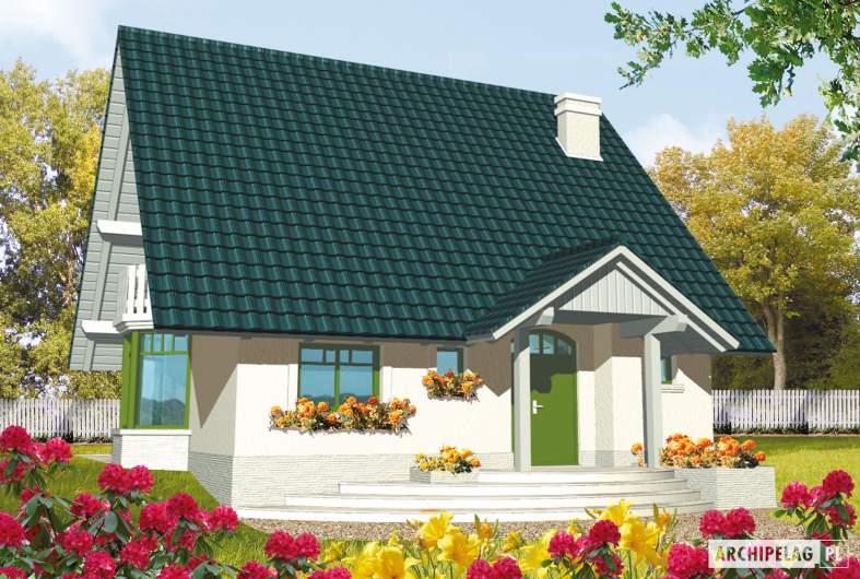 Projekt domu Hania - wizualizacja frontowa