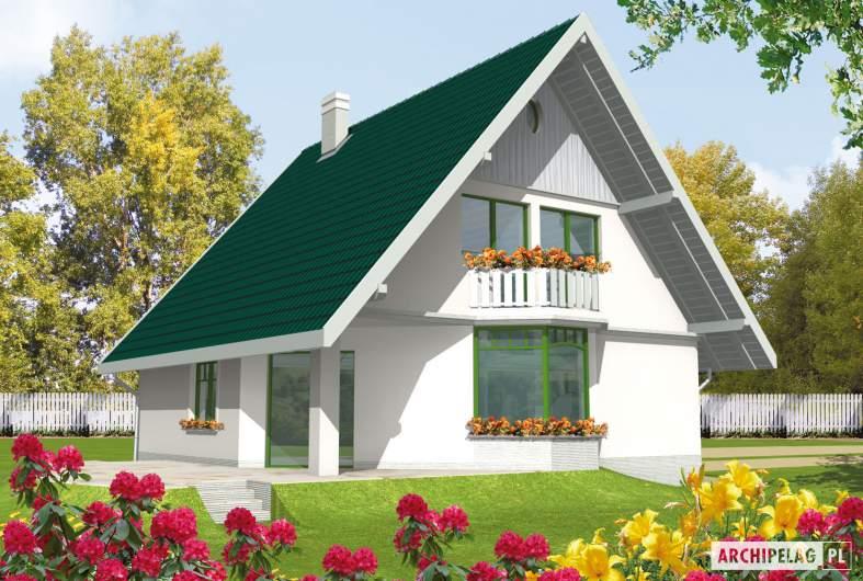 Projekt domu Hania - wizualizacja ogrodowa