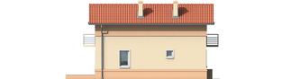 Projekt domu Moniczka - elewacja lewa