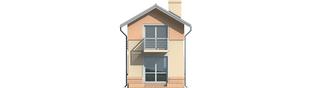 Projekt domu Moniczka - elewacja tylna