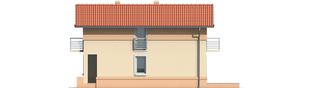 Projekt domu Moniczka - elewacja prawa