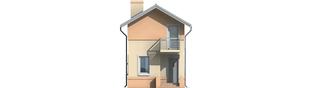 Projekt domu Moniczka - elewacja frontowa