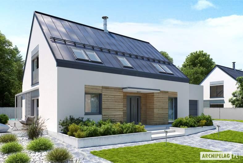 Projekt domu Sam II G2 ENERGO PLUS - wizualizacja frontowa