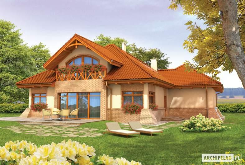 Projekt domu Mateusz G2 - wizualizacja ogrodowa