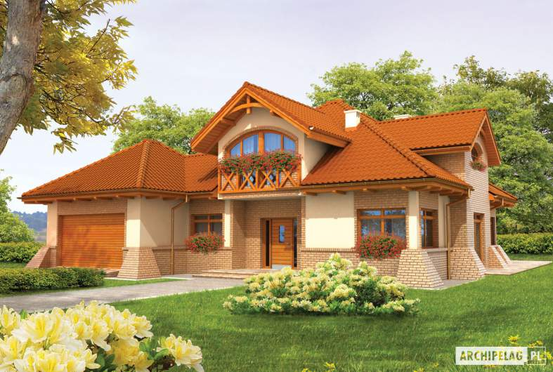 Projekt domu Mateusz G2 - wizualizacja frontowa