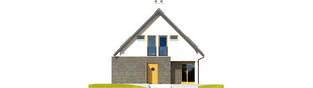 Projekt domu Tim - elewacja lewa