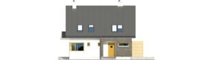 Projekt domu Tim - elewacja frontowa