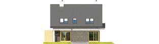 Projekt domu Tim - elewacja tylna