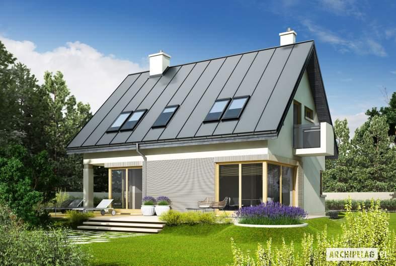 Projekt domu Tim - Projekty domów ARCHIPELAG - Tim - wizualizacja ogrodowa