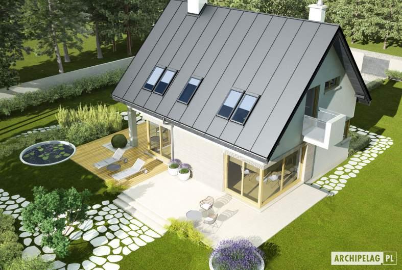Projekt domu Tim - Projekty domów ARCHIPELAG - Tim - widok z góry